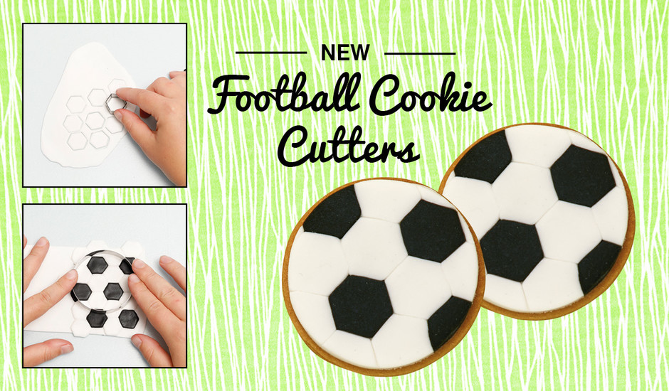 Cakes sugarcraft magazine cake chat win a football for Football cookie cutter template