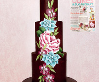 Find out how to make this painted ganache cake in Cakes & Sugarcraft magazine