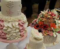 Veda Albrezenchi - Level 2 Cake & Flowers at Brooklands College Sugarcraft & Bakery Exhibition 2015