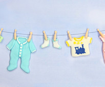 Baby Clothes Washing Line Mould by Katy Sue