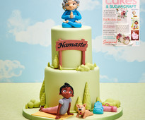 Find out how to make this yoga cake in Cakes & Sugarcraft magazine