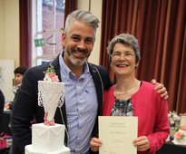 Mark Tilling and Tessa Whitehouse at Brooklands College Sugarcraft & Bakery Exhibition 2015