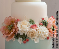 Succulent wedding cake by Debs Makes Cakes from www.cakesandsugarcraft.com