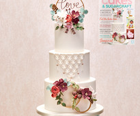 Find out how to make this boho wedding cake in Cakes & Sugarcraft magazine